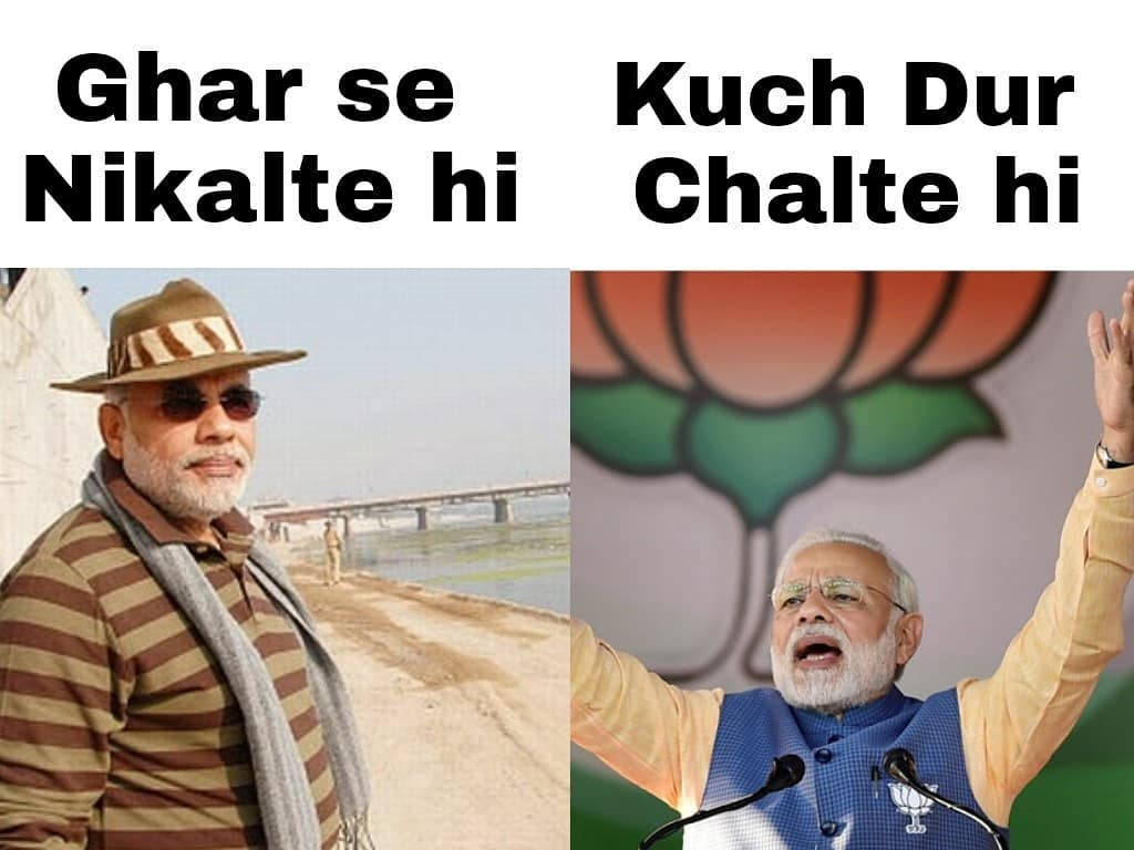 funny meme on ghar se niklte hi song