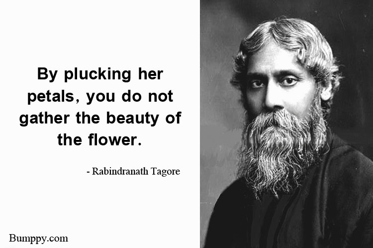 By plucking her  petals, you do not gather the beauty of  the flower.