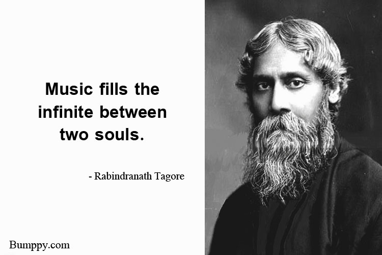 Music fills the  infinite between  two souls.