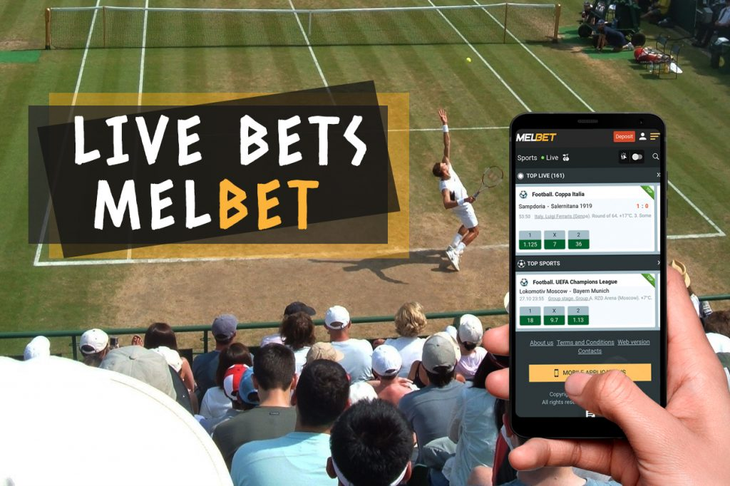 Live bets on Melbet APP